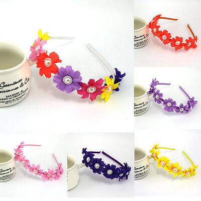 Boho Floral Flower Girls Kids Princess Hair Band Headband Hair Accessories