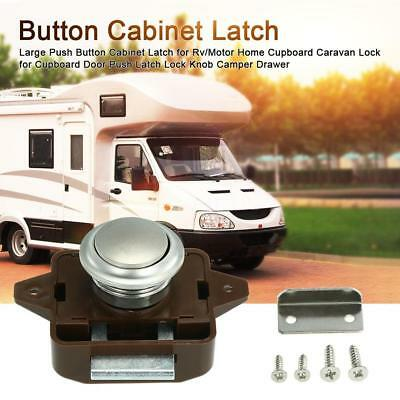 Large Push Button Cabinet Latch for Rv/Motor Home Cupboard Caravan Lock for G5C9