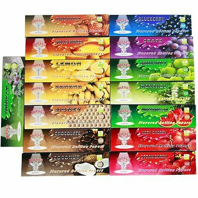 5 x pack of 15 kinds 32 leaves Hornet 110*44MM Handroll Flavored Rolling Papers