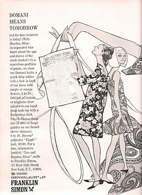 1966 Franklin Simon Fashion Art Illustrations by Grammer / Hayden Stone Investmt
