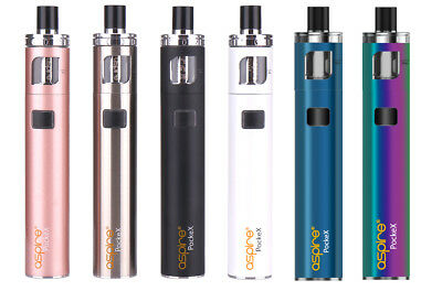 ASPIRE POCKEX KITS, 0.6, 1.2 Coils, Replacement Glass, Spare Drip Tips, Top Cap
