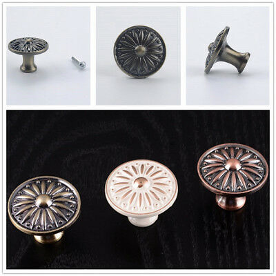 AU 10x Vintage Metal Door Knobs Drawer Cabinet Furniture Kitchen Cupboard Handle