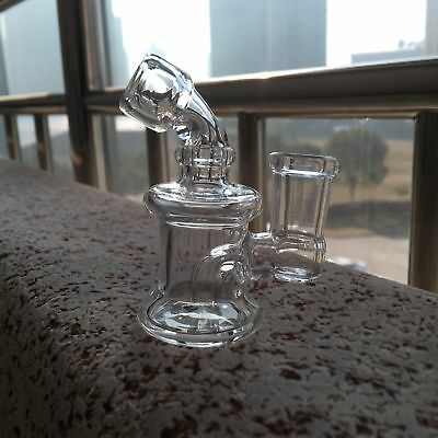 8cm Mini Water Glass Smoking Pipe  Mini Banger Hanger(14mm joint)