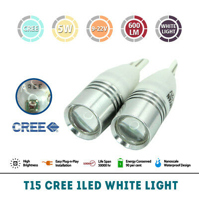 2pcs T15 HIGH Power W5W LED Bulb Wedge Car Side Tail Parker Light Globe CREE AU