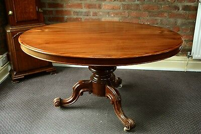 Victorian Mahogany Oval Tilt Top Loo Table Antique Tip Top Table Breakfast
