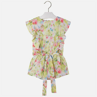 Mayoral Girls Summer floral Playsuit In Lima (3809) Aged 3 & 6