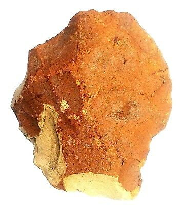 Flint Stone 135 grams Hand Axe Neanderthal Paleolithic Tool has Plough Break
