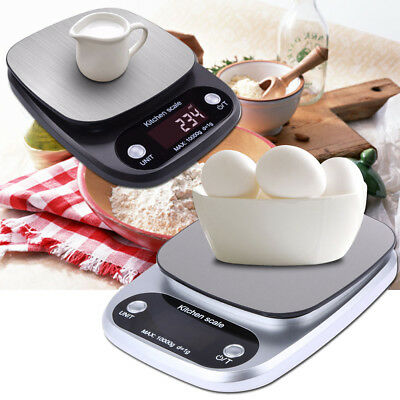 Kitchen Food Baking Weight Digital LCD Electronic Weighing Scale 10kg V7J8