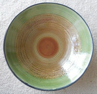 PIER 40 IMPORTS Large Hand Pained Decorative Earthenware Green Fascinating Pier 1 Decorative Bowls