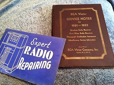 1931 Radio Repair SIGN 1932 RCA Victor Service Manual Phonograph Short Wave Book