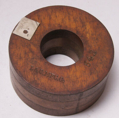 "Lamson Vintage Industrial Foundry Wood ~5"" Belt Drive Wheel Mold Pattern M16A"