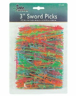 "Update International (PSP-30JP) 3"" Plastic Sword Toothpicks (Case of 500)"