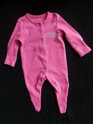 """Baby clothes GIRL premature/tiny<6lbs/2.7kg bright pink """"so lovely"""" babygrow"""