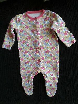 Baby clothes GIRL premature/tiny<7.5lbs/3.4kg bright pink floral babygrow C SHOP