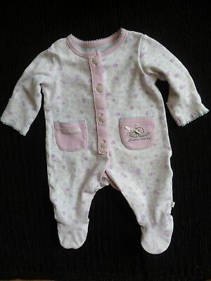 Baby clothes GIRL premature/tiny<7.5lbs/3.4kg pink/mauve floral babygrow M'care