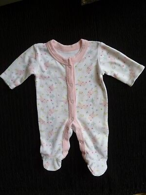 Baby clothes GIRL premature/tiny<8lbs/3.5kg cute pink rabbits babygrow SEE SHOP!