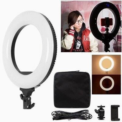 40W Dimmable 3200-5500K LED Ring Light for Selfie Photo Beauty Video Studio