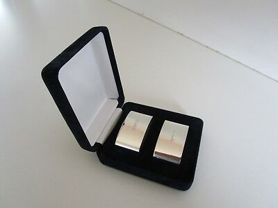 Cased Pair Sterling Silver Napkin Rings, Hallmarked Sheffield 1996