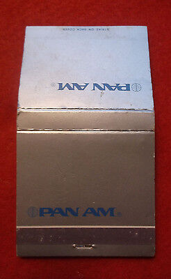 UNSTRUCK 70s MATCH BOOK PAN AM AIRWAYS Pan American Airline Matches Matchcover