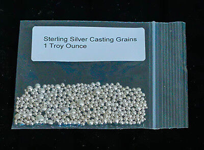 1oz Troy .925 Sterling Silver Casting Grains.