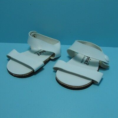 """American Girl 18"""" White Strappy Sandals with Snaps"""