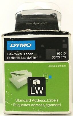 DYMO 99010 LW LABELWRITER ADDRESS LABEL ROLL TWINPACK //// 89mm x 28mm //// S0722370