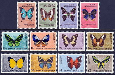 Papua New Guinea 1966 Butterfly definitives