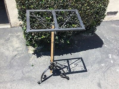 Local Pick Up Only. Nice! Heavy Wrought Iron Music Book Stand Bible Podium