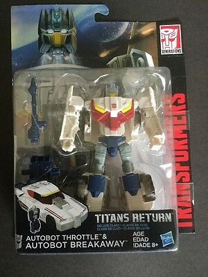 Transformers Titans Return Autobot Throttle & Autobot Breakaway DLX Class