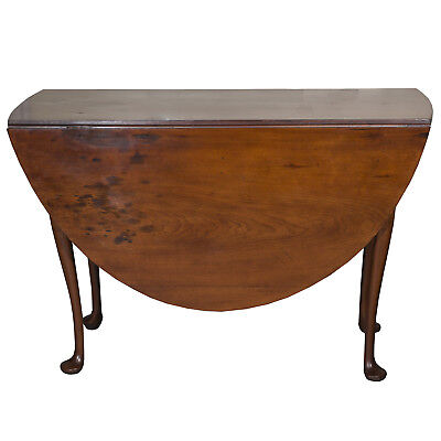 18th Century American Queen Anne Cherry Drop Leaf Table