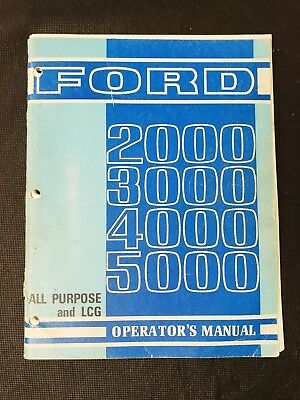 ford 5000 tractor owner operator manual load monitor dual power rh picclick com 2000 Ford Garden Tractor Manuals Ford 2000 Tractor 3 Cylinder