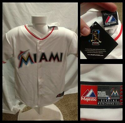 057cafb7542 Miami Florida Marlins MLB Reyes 7 Majestic Jersey Youth Size Large White  NWT New