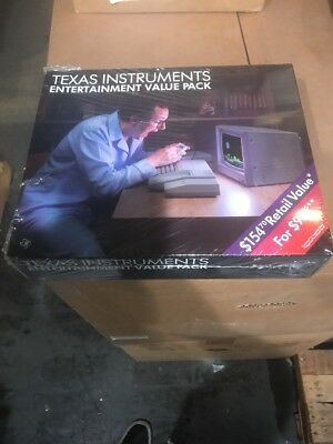 New Nos Ti-99/4A Family Entertainment Pack Sealed In Original Box Phv 1001