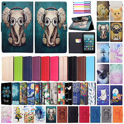 For Amazon Kindle Fire HD 8 2018/2017 Tablet Smart Case Flip Leather Stand Cover