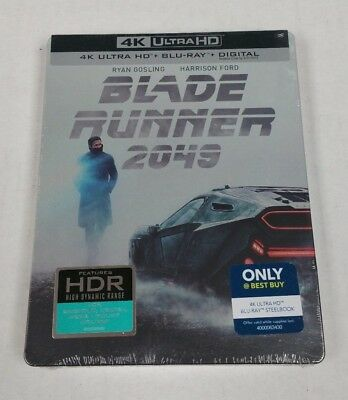Blade Runner 2049 4K Ultra HD HDR Blu-Ray Collectible Steelbook NEW