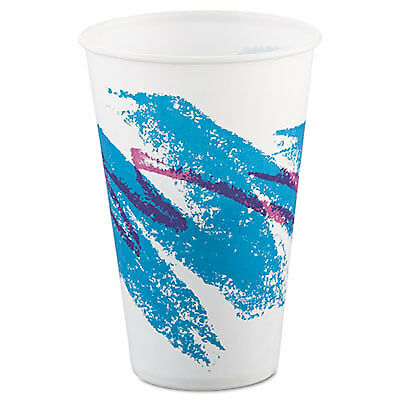 Jazz Waxed Paper Cold Cups, 12oz, Tide Design, 2000/carton