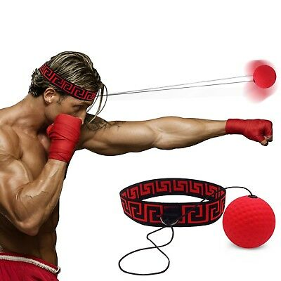 Boxing Reflex Fight Ball by Abra Athletics, Headband Fits All, Improve Punching