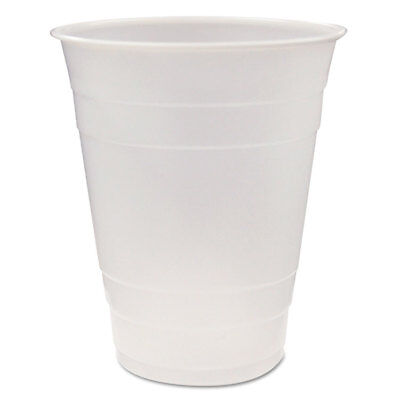 Translucent Plastic Cups, 16 Oz, Clear, 80/pack, 12 Pack/carton