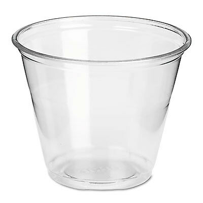 Clear Plastic Pete Cups, Cold, 9oz, Regular Size, 50/pack, 20 Packs/carton