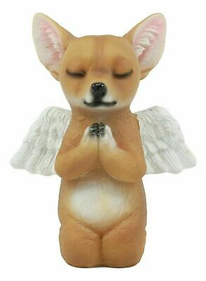 Adorable Praying Angel Chihuahua Dog Pet Memorial Statue Inspirational Taco Chi