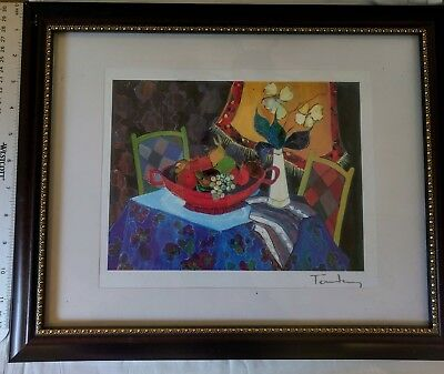 TOO COLD AT HOME' by ITZCHAK TARKAY Seriolithograph Framed 2013