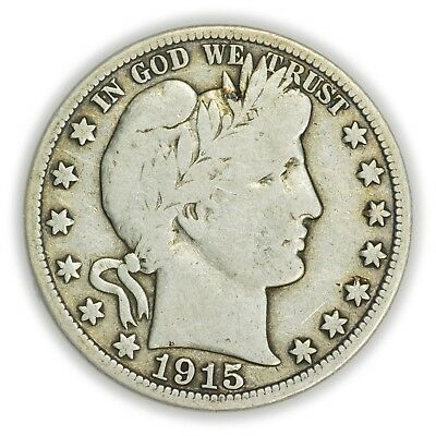 1915-D Barber Half Dollar, Large, Early Type, Silver Coin [3732.10]