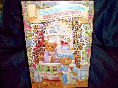 Enesco Cherished Teddies Romeo and Juliet Collectors Set Used In Box