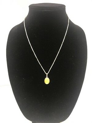 Antique Sterling Silver Butterscotch Egg Yolk Natural Baltic Amber 老琥珀 Necklace