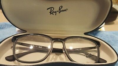 55a49689ec8d9 RAY-BAN RB 7117 5196 Eyeglass Frames Black 52 19 145 New -  75.00 ...