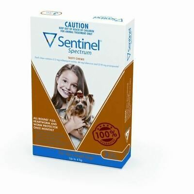 Sentinel Spectrum Tasty Chews for Very Small Dogs <4kg - Brown 3 pack