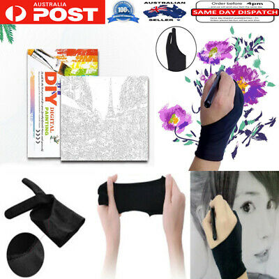 Anti-Fouling Glove With Two Fingers For Graphics Tablet Sketch Painting