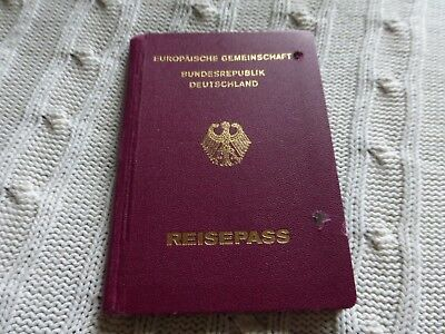 Vintage Passport Germany Cancelled Stamped Inside Reisepass #2764