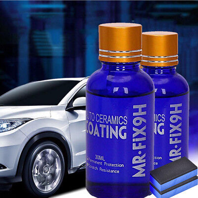 10PACK 9H Ceramic Car Glass Coating Liquid Hydrophobic AntiScratch Auto Care New