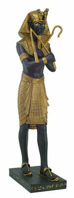 Egyptian Pharaoh 4 Foot Tall Large King Tut Holding Crook And Flail Statue